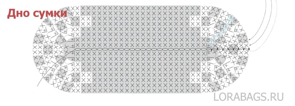Сумка с фермуаром схема вязания крючком