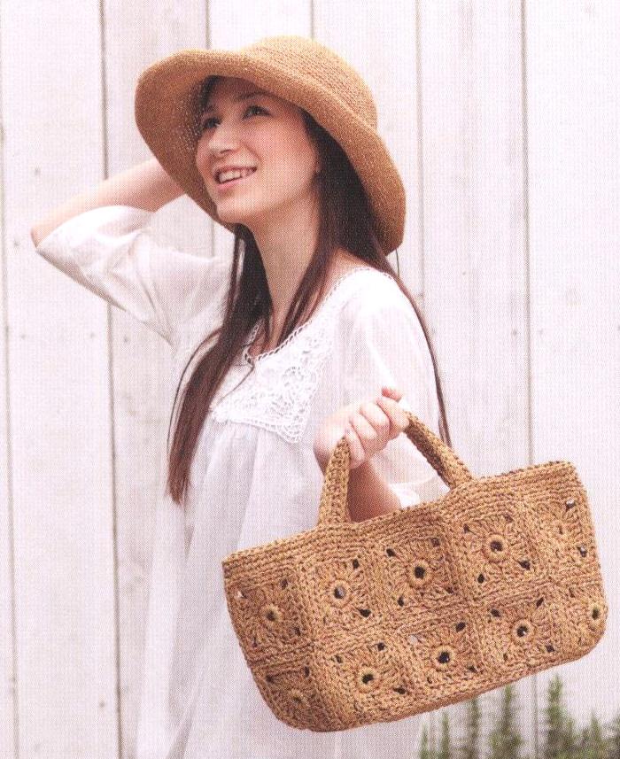 Шляпка и сумка для лета крючком