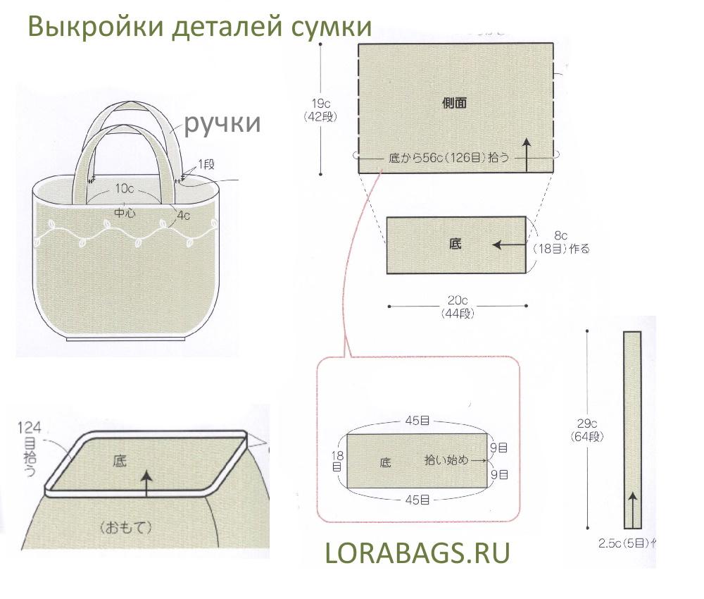 Вязаная сумка шоппер крючком